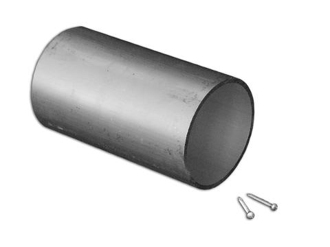 Flender Alu-Verbindungsmuffe 120mm Nr.040267 für Alu-Rundrohr 120mm Natur