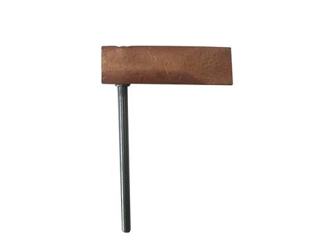 Grün Kupferstück Hammerform gerade 350 g Nr.25130000