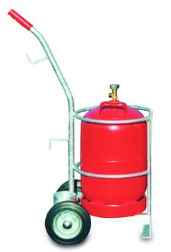 Grün Gasflasche Flaschenboy Nr.50750000 für Gasflasche 33/11 kg Verzinkt