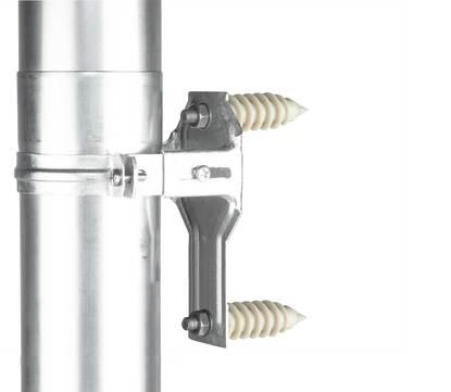 Ungeheuer Fallrohr Stützelement 100mm mit EPS-Dübel