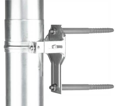 Ungeheuer Fallrohr Stützelement 100mm mit MW295-Dübel