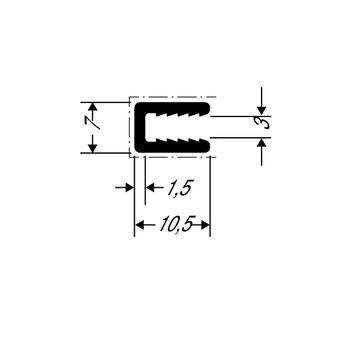ThyssenKrupp Plastics Abschlussprofil ALUCOBOND 24554, AlMgSi0,5 F22