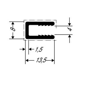 ThyssenKrupp Plastics Abschlussprofil ALUCOBOND 24494 AlMgSi 0,5 F22