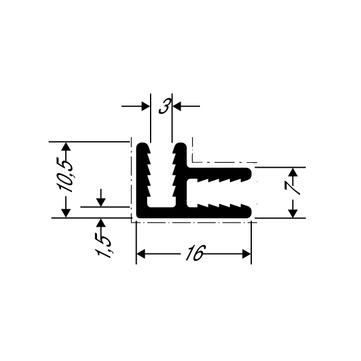 ThyssenKrupp Plastics Eckverbindungsprofil ALUCOBOND 24556, AlMgSi0,5 F22