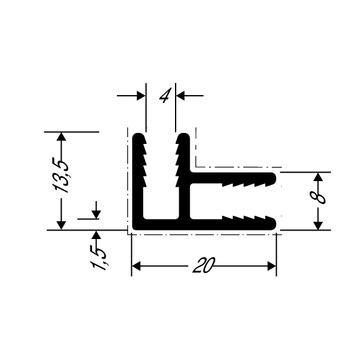 ThyssenKrupp Plastics Eckverbindungsprofil ALUCOBOND 24552, AlMgSi0,5 F22