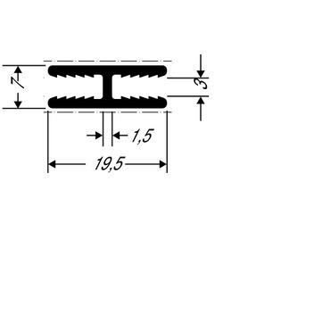 ThyssenKrupp Plastics Stoßverbindungsprofil ALUCOBOND 24555, AlMgSi0,5 F22