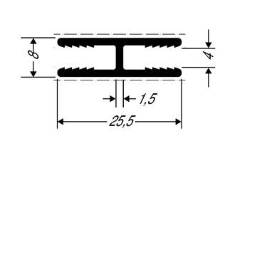 ThyssenKrupp Plastics Stoßverbindungsprofil ALUCOBOND 24551 AlMgSi 0,5 F22