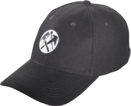 Job Cap mit Dachdeckeremblem schwarz