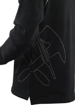 Job Sweat-Troyer 5797 Gr. XL schwarz mit Dachdeckeremblem