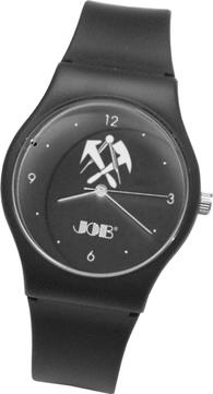 Job Dachdecker-Armbanduhr 30 m wasserdicht Citizen/Miyota Quartzwerk Schwarz