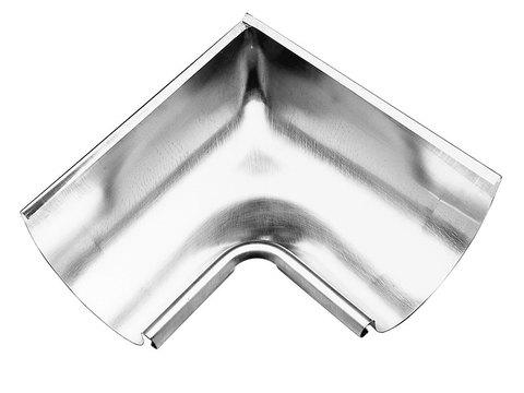 Zambelli 6-teilige Rinneninnenwinkel halbrund 0,50 mm gezogen 333/300 mm Edelstahl Uginox FTE