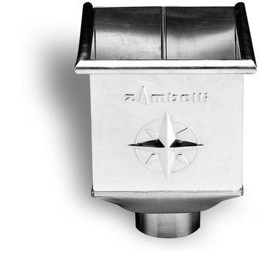 Zambelli 6-teilige Wasserfangkasten 100 mm quadratisch 220x220x300 mm Titanzink