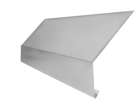 Zambelli Traufblech 150/80/20 mm 2,0 m 45° Grauweiß