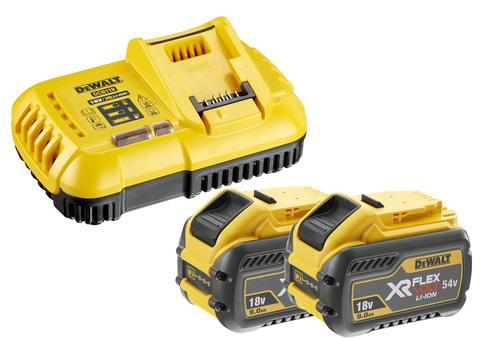 Stanley-Dewalt Akku-Starter-Set DCB118X2 54,0 Volt / 18,0 Volt 9,0Ah XR FlexVolt
