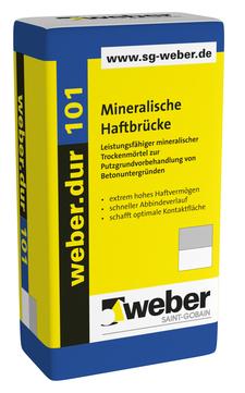 Saint-Gobain Weber weber. dur 101 30 kg mineralischer Trockenmörtel/Haftbrücke Naturgrau