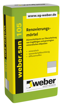 Saint-Gobain Weber weber. san 105 30,0 kg mineralischer Dünnschichtputz Naturweiß