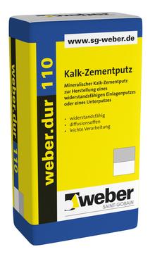 Saint-Gobain Weber weber. dur 110 30 kg Kalk-Zementputz