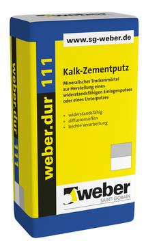 Saint-Gobain Weber weber. dur 111 30 kg mineralischer Trockenmörtel/Unterputz