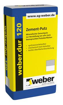 Saint-Gobain Weber weber. dur 120 30 kg mineralischer Zementputz