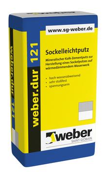 Saint-Gobain Weber weber. dur 121 30 kg Kalk-Zementputz/Sockelputz