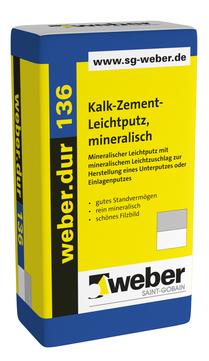 Saint-Gobain Weber weber. dur 136 30 kg mineralischer Leichtputz/Unterputz