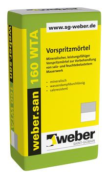 Saint-Gobain Weber weber. san 160 WTA 30,0 kg mineralischer Vorspritzmörtel Naturgrau