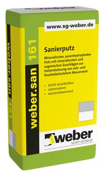 Saint-Gobain Weber weber. san 161 30 kg mineralischer Sanierputz Naturweiß
