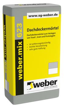 Saint-Gobain Weber weber.mix 623 25 kg Dachdeckermörtel Grau