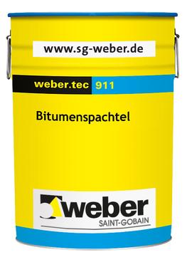 Saint-Gobain Weber weber. tec 911 14 kg Bitumenspachtel ALT:Plastikol 1 Schwarz