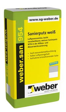 Saint-Gobain Weber weber. san 954 25 kg Deitermann-SP Weiß
