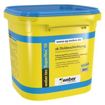 Saint-Gobain Weber weber. tec Superflex 10 30 l Kunststoffgebinde Schwarz