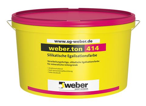 Saint-Gobain Weber weber. Ton 414/2017 15 l PG1 Egalisationsfarbe Weiß