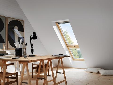 VELUX Fenster-Zusatzelement unten GIL MK34 3066 78x92 cm Kiefer Endlackierung Energy Plus Dachschräge Aluminium