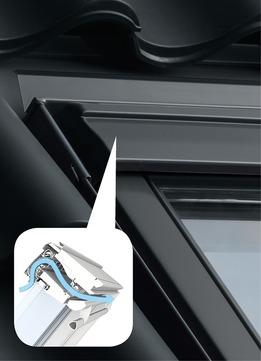 VELUX Fensterzubehör ZZZ 214K GS0 Lüftungselement für Schwingfenster Breite S Aluminium
