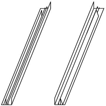 VELUX Einbauzubehör ETL WK34 0000 Schiefer Schichtstück Verlängerungsteile Aluminium