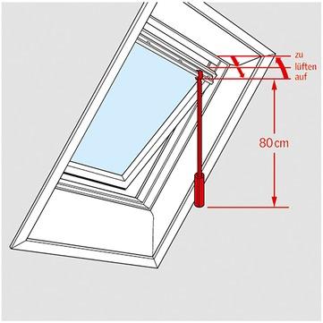 VELUX Pflege,-Sicherheits-sonstiges Zubehör ZCZ 080 Bedienstange 80 cm für GGU, Schwing-Fenster Holz GGL VU, VL, VG,