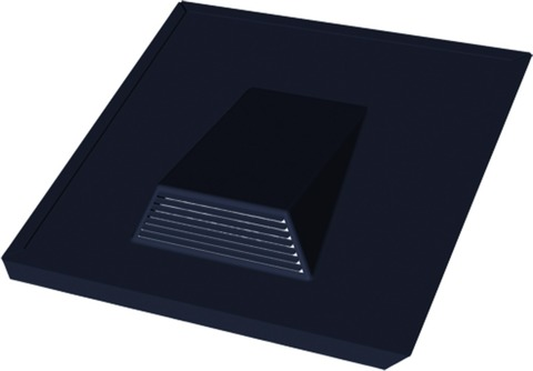 Eternit Dachplatte Entlüfter 37x38 cm universal Schwarz