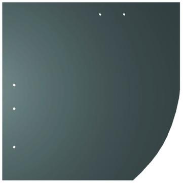 Creaton Dachplatte 25x25 cm Deutsche Deckung Bogen rechts 5-10 glatt Quadrat mit Bogenschnitt rechts Ziegelrot