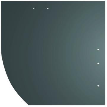 Creaton Dachplatte 25x25 cm Deutsche Deckung Bogen links 5-10 glatt Quadrat mit Bogenschnitt links Ziegelrot