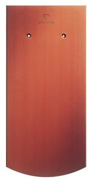 CREATON Biber Segmentschnitt Ambiente ganz 18x38 cm Autenried Naturrot