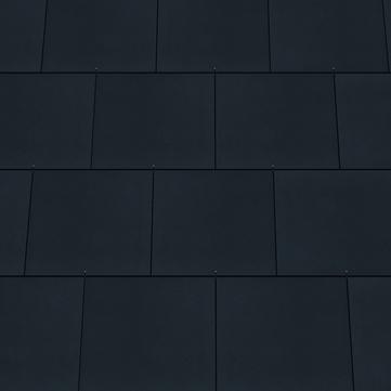 Eternit Dachplatte 40x40 cm Doppeldeckung 5-12 glatt Quadrat vollkantig gelocht Blauschwarz