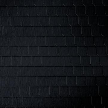 Eternit Dachplatte 20x20 cm geschlossen Wabe 3 Struktur Quadrat mit 1 gestutzten Ecke gelocht Blauschwarz