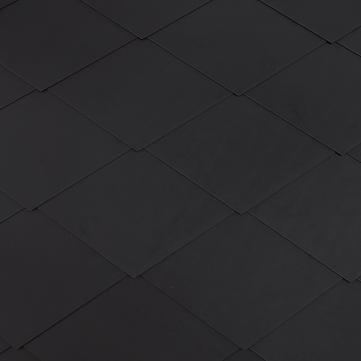 Eternit Dachplatte 40x44 cm Rhombusdeckung 9+10 glatt gelocht Blauschwarz