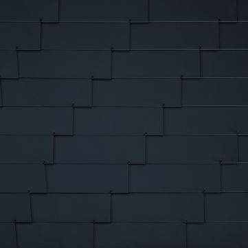 Eternit Dachplatte 30x20 cm waagerecht 4/5 Struktur Rechtecker für Links- und Rechtsdeckung 2 Loch Blauschwarz
