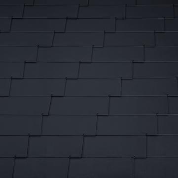 Eternit Dachplatte 60x30 cm waagerecht 4-12 glatt Rechtecker für Links- und Rechtsdeckung 2 Loch Blauschwarz