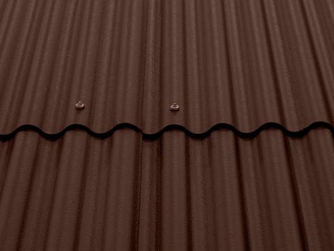 Eternit Wellplatte P8 2500 mm ohne Eckenschnitt Dunkelbraun
