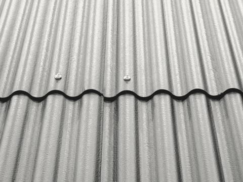 Eternit Wellplatte P8 2500 mm ohne Eckenschnitt Hellgrau