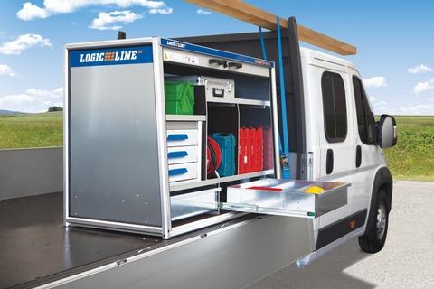 LogicLine Auszugslade ToolBox TB-150 XL links 642x150x599 mm