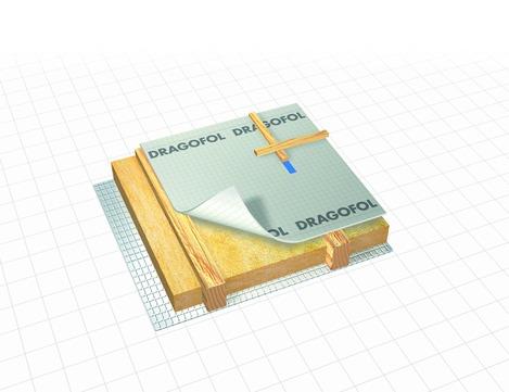 Dörken Dragofol 50x1,50 m gitterverstärkte PE-Folie B1 Transparent