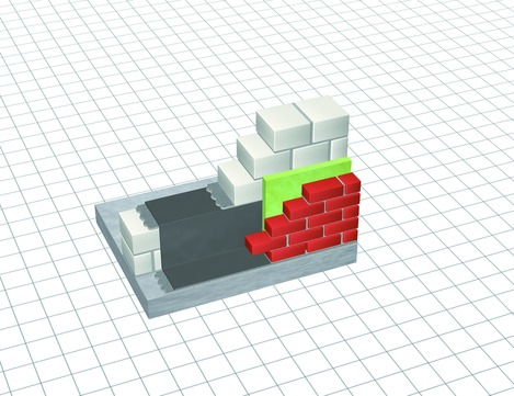 DÖR DELTA-Mauer-Sperre 25x0,24 PVC